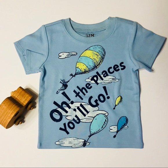 Dr Seuss Shirts Tops Oh The Places Youll Go Baby Shirt Poshmark